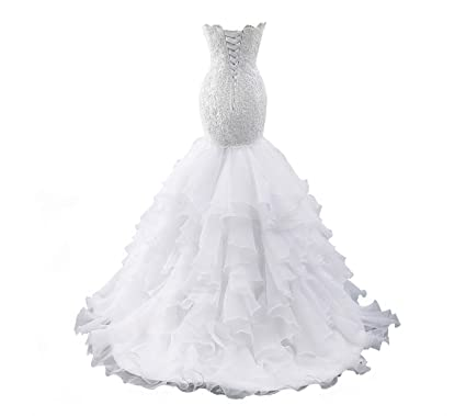 0e0ea7bcc0ba JINGDRESS Sweetheart Mermaid Beaded Wedding Dresses Plus Size Bridal Gowns  for Bride Ivory