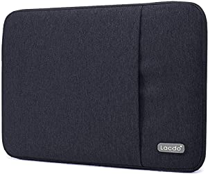 "Lacdo 15.6 Inch Laptop Sleeve Case for 15.6"" Acer Aspire 5, E 15, Flagship/ASUS VivoBook 15 TUF FX505 / Dell Inspiron 15 / Lenovo Ideapad/HP Pavilion, EliteBook Water Repellent Notebook Bag, Black"