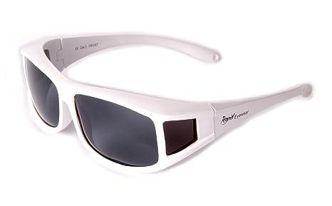 Rapid Eyewear Hombres Y Damas POLARIZADA Gafas de Sol Blancas Que se Colocan sobre Las Gafas. para los Deportes y el Ocio Uso, Incluyendo la ...