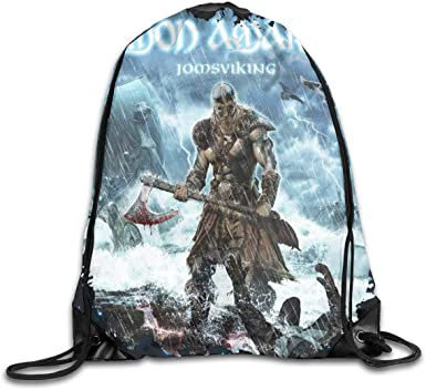 CAOI UUC Amon Amarth Jomsviking Gym Drawstring Backpack Cinch Sack