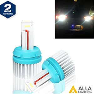 Alla Lighting Brightest T15 912 921 LED Back-Up Reverse Light Bulbs 2400Lm CANBUS 921 LED Bulb T15 W16W LED Bulbs CSP SMD 921 LED Back Up Reverse Light for Car Truck RV, 6000K Xenon White (Set of 2)