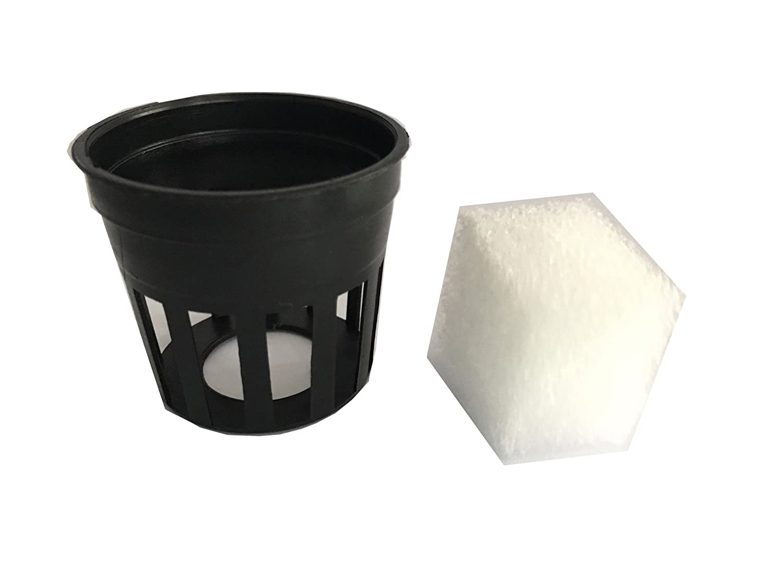 Garden Plastic Net Cups Pots with sponge,Hydroponic Farm,Organic gardening,Vegetable garden equipment 30Black Cup