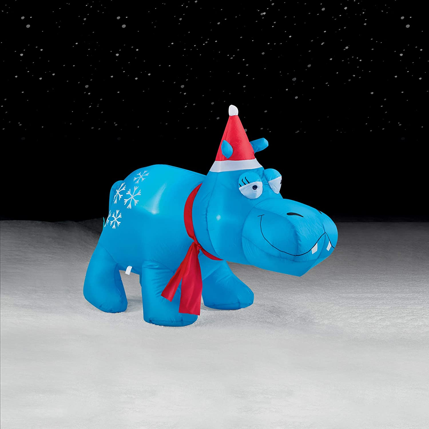 Brite Star 3.5ft Airblown Inflatables, Blue Hippo