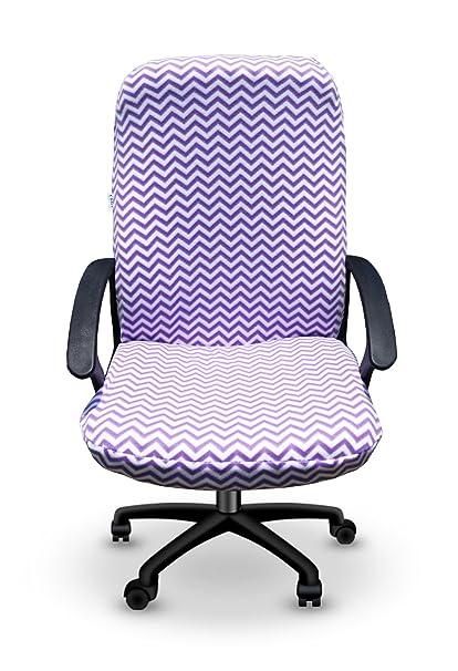 Bon Purple Chevron Office Desk Chair Cover (The Chirt)