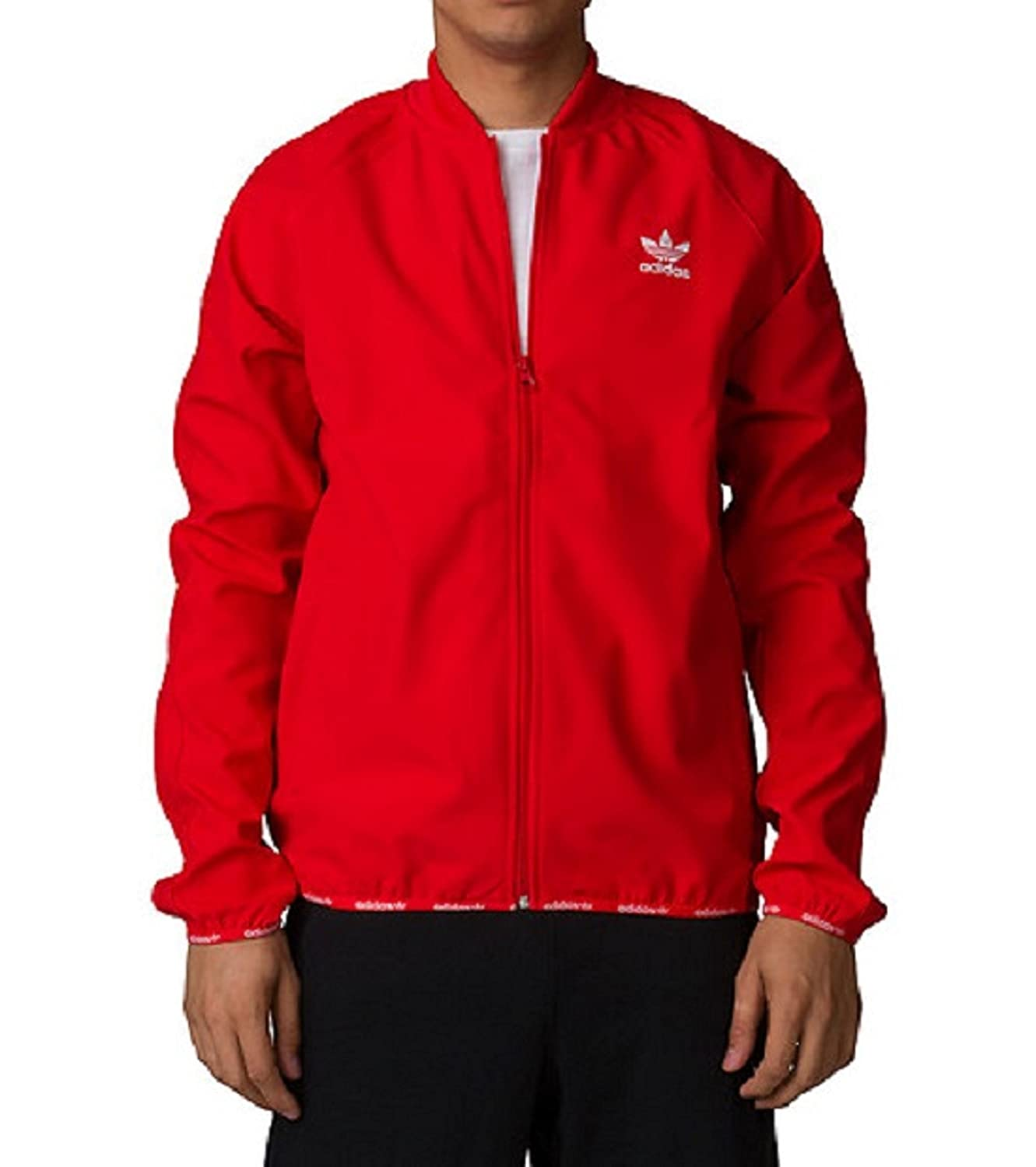 adidas Men's Originals Superstar Track Top 2.0 Jacket Red at