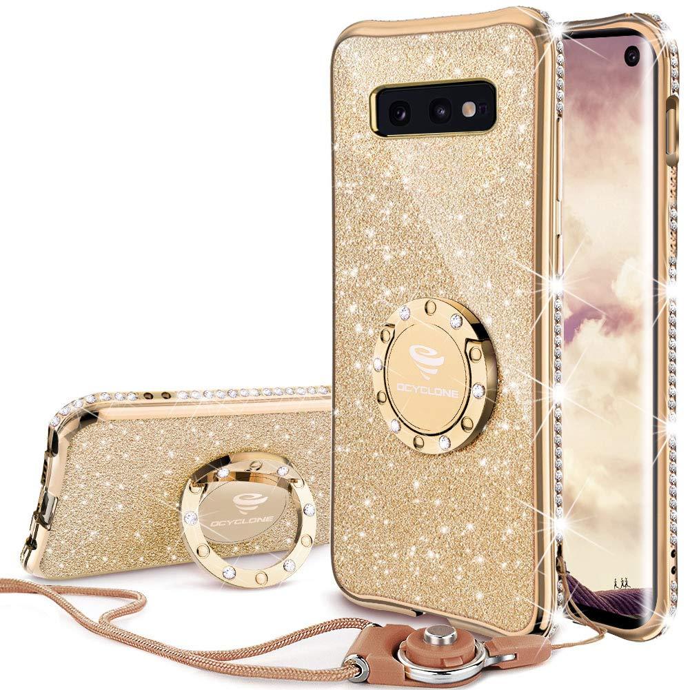 Funda para Samsung S10e Glitter con pie OCYCLONE (7PCN95T7)