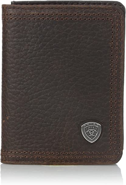 Ariat Men's Shield Concho Rowdy Bifold Flip, Brown, One Size