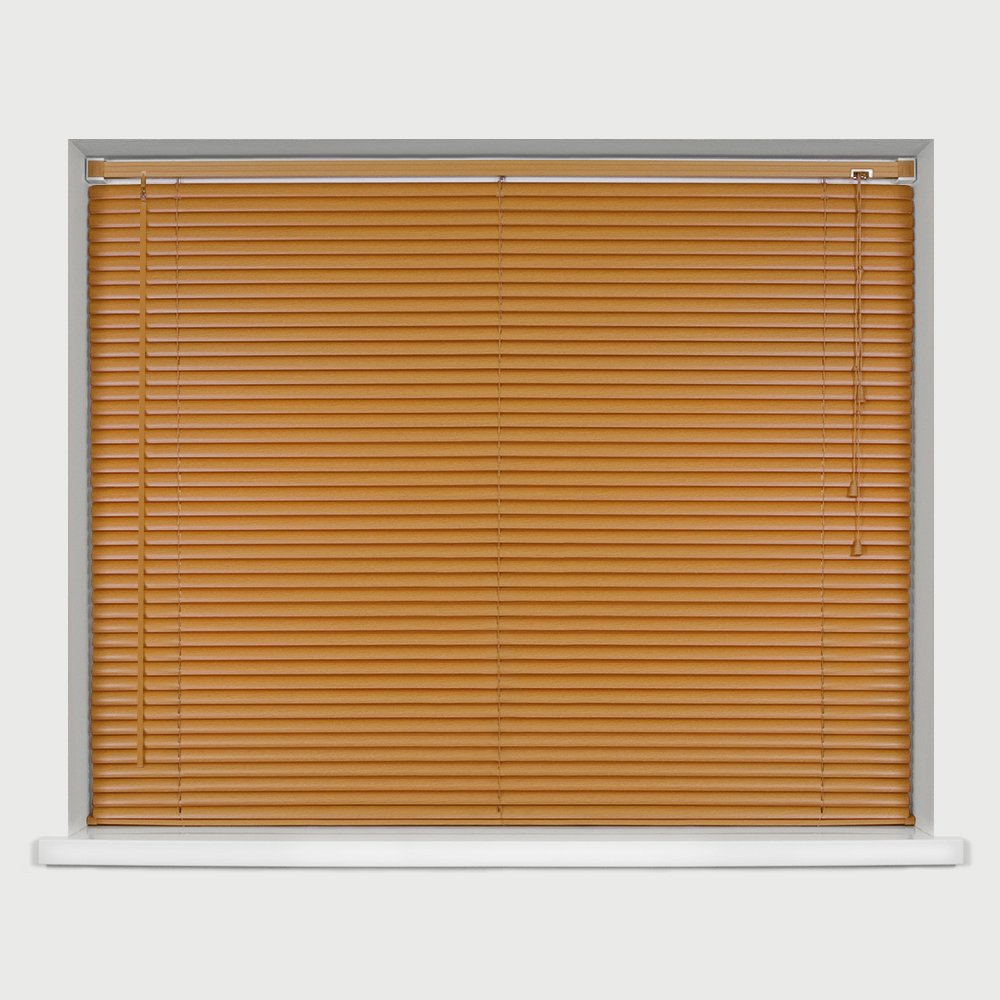 EASYFIT TEAK Wood Effect Venetian blind * AVAILABLE IN WIDTHS 45 CM TO 210 CM * ALSO AVAILABLE IN DARK OAK, BLACK and NATURAL COLOURS* 45 x STANDARD