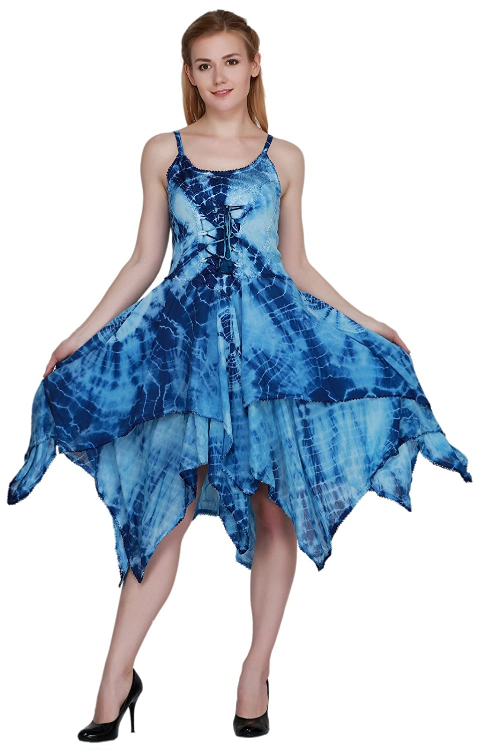 d1beac63b4453d Fabric: Viscose Measurement (Appx): Bust: 30 to 42 Inches; Height: 44  Inches Care: Hand Wash in Cold Water Sleeveless Design with Tie Dye Style  on whole ...