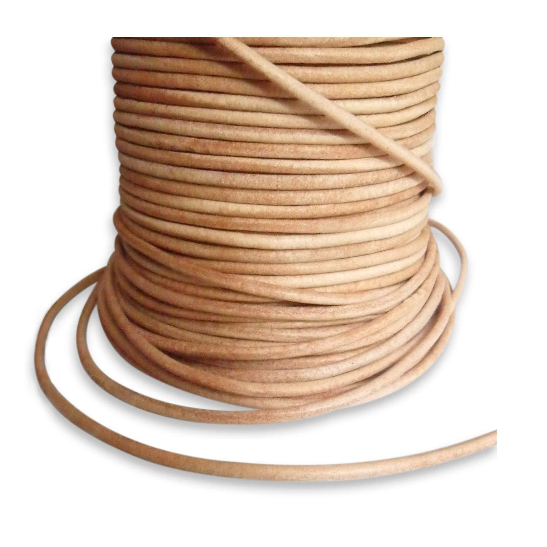 Lederbänder Lederband Antikbraun aus Büffelleder eckig flach 3 x 1 mm Neu