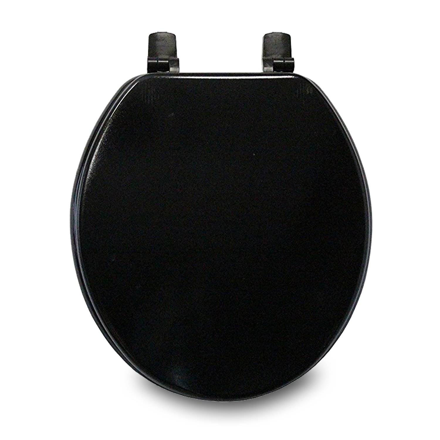 Trimmer Molded Wood Solid Toilet Seats - Black