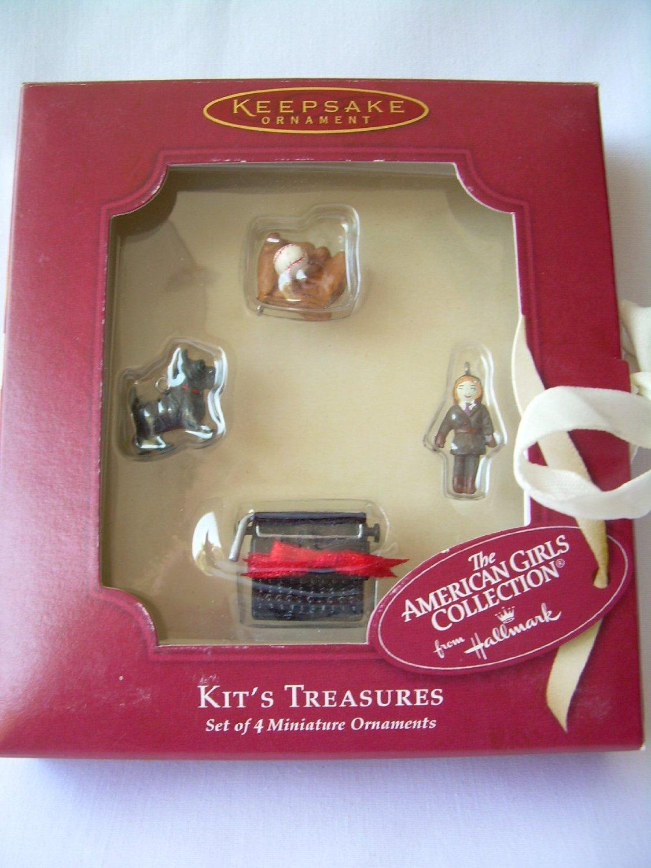 Miniature ornaments - Amazon Com American Girl Collection Kit S Treasures Set Of 4 Miniature Ornaments From Hallmark Keepsake Ornament Toys Games