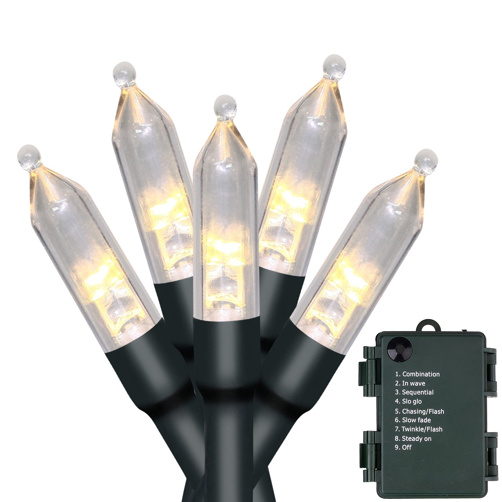 Details About Christmas Lights Outdoor String Lights 50 Led Battery Operated String Lights