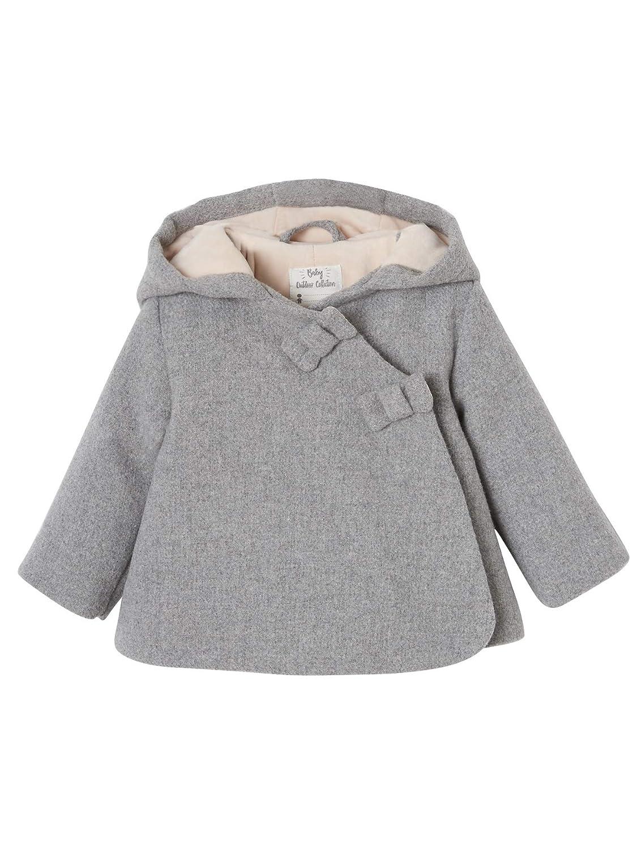 VERTBAUDET Abrigo con Capucha para beb/é ni/ña de pa/ño de Lana Forrado y Guateado