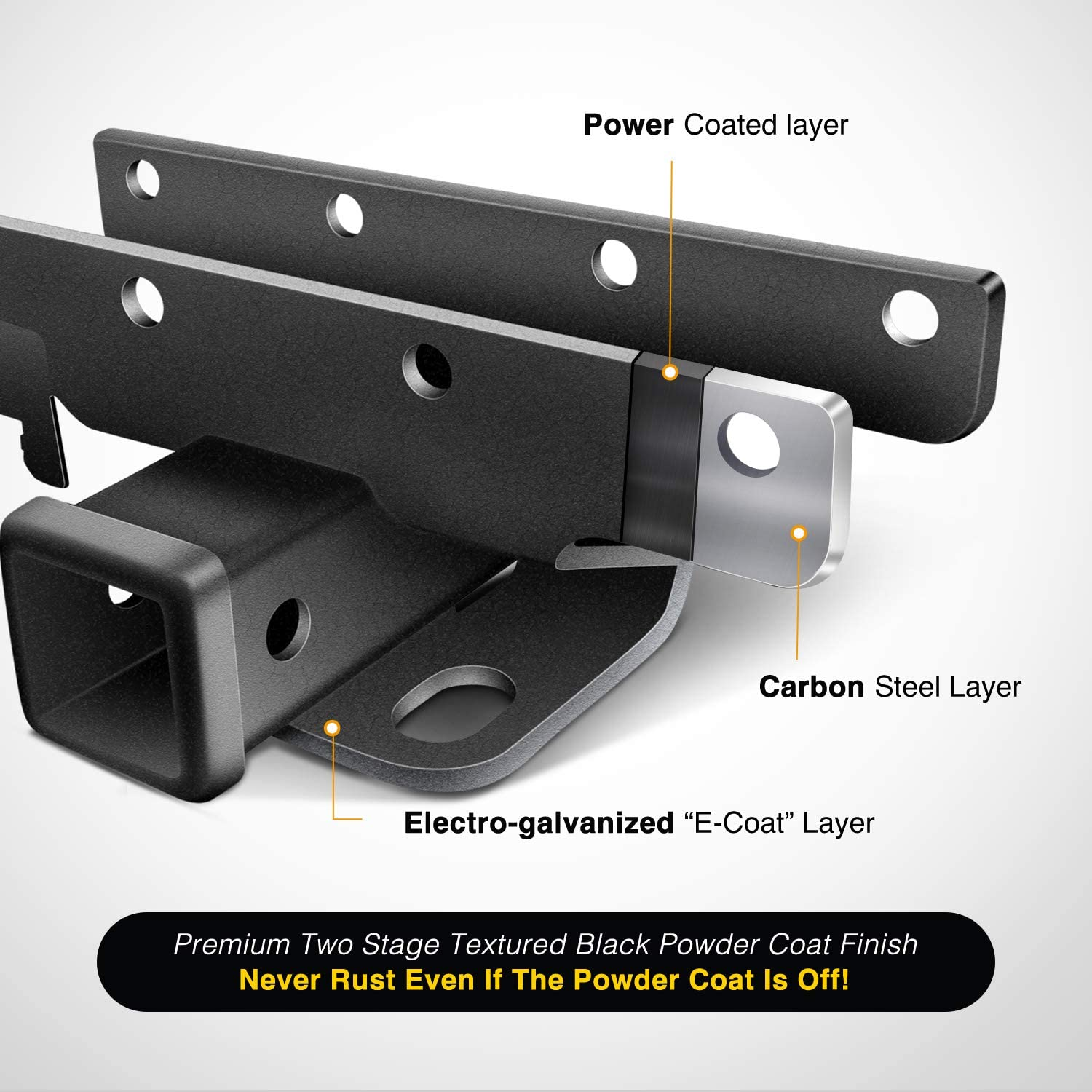 Exclude JL Models Nilight JK-61A 2 inch Rear Bumper Tow Trailer Hitch Receiver Kit Compatible for 2007-2018 Jeep Wrangler JK 4 Door /& 2 Door Unlimited w//4-Pin Wiring Harness
