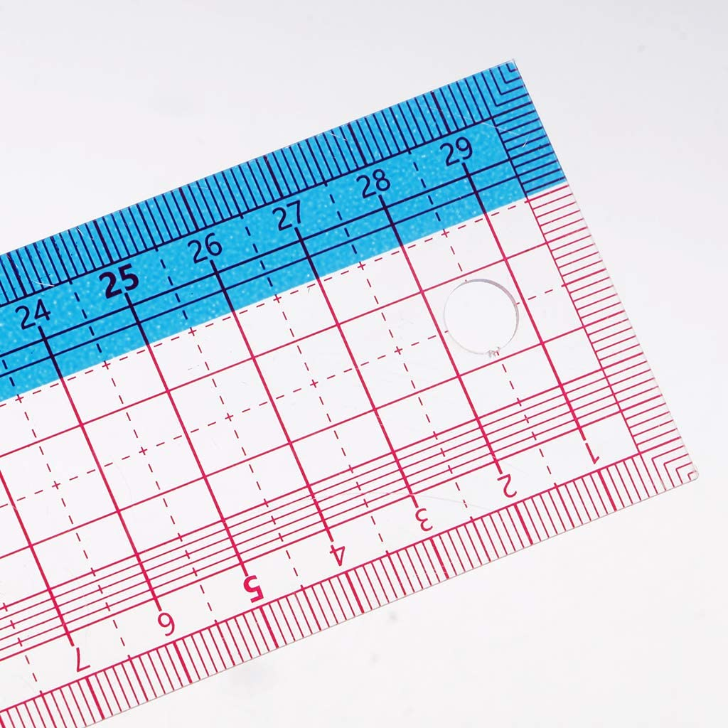 F Fityle Plastik Rechteck Lineal f/ür Patchwork Schneiderlineal 30 cm