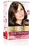 L'Oreal Paris Excellence Creme, Natural Dark Brown 04, 72ml+100gm