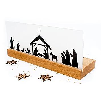 Weihnachtskrippe Modern.Krippe Holz Weihnachten Modern Weihnachtskrippe Design Bethlehem Eiche Handgemacht