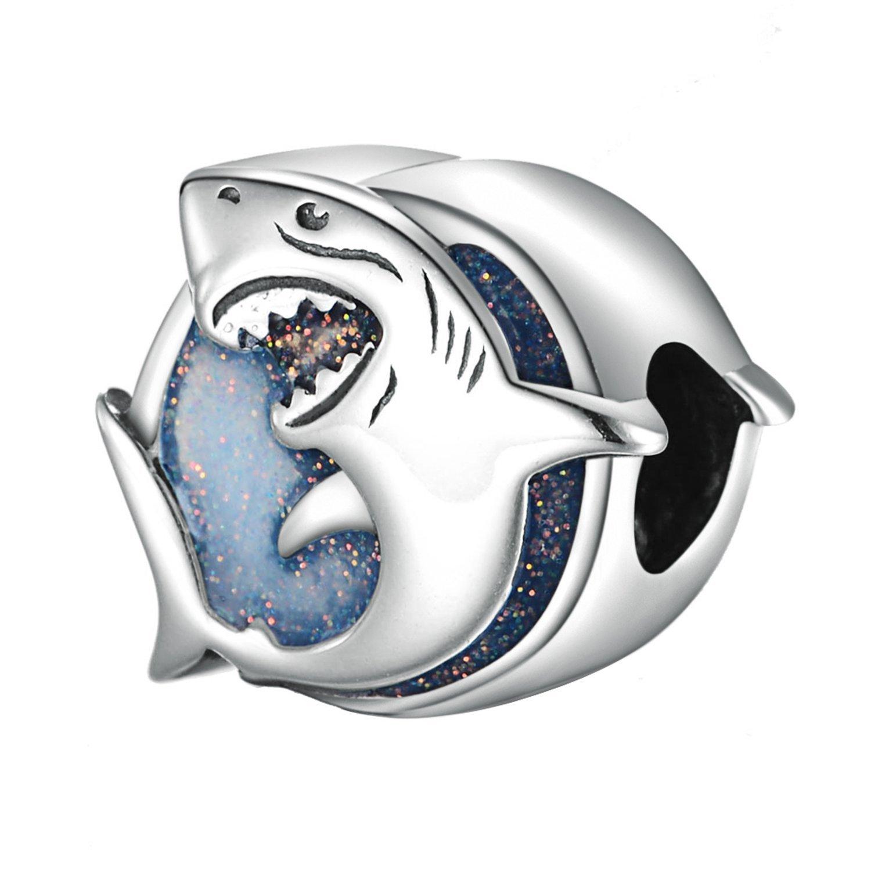 Lovans 925 Sterling Silver Shark Charm Fit Pandora Bracelets