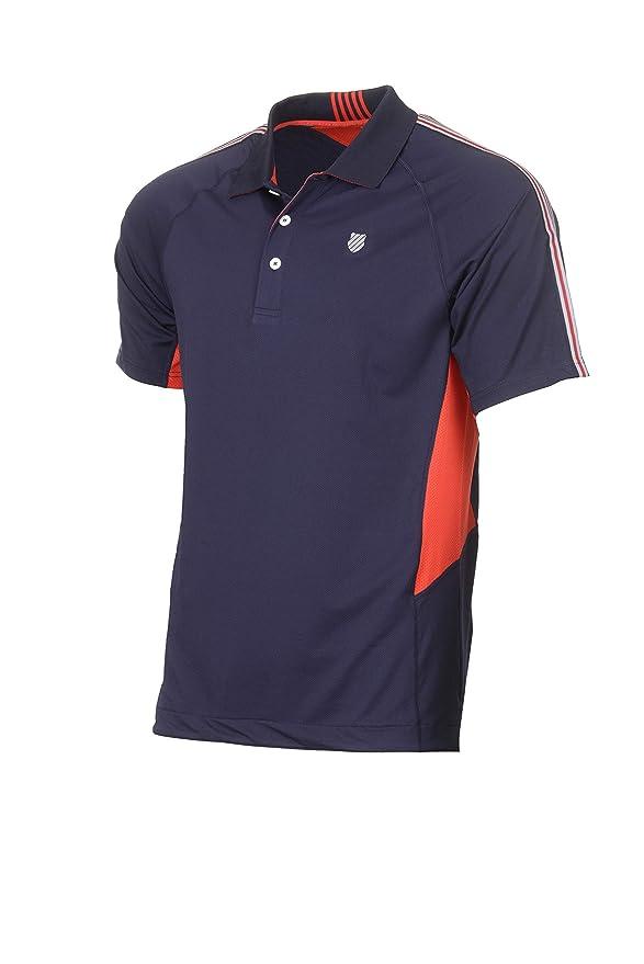 K-Swiss Heritage Polo de Tenis, Hombre, Marino, S: Amazon.es ...