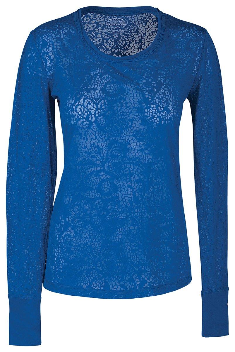 Cherokee Women's Warm Long Sleeve Knit Underscrub Tee_Royal_X-Small,4823