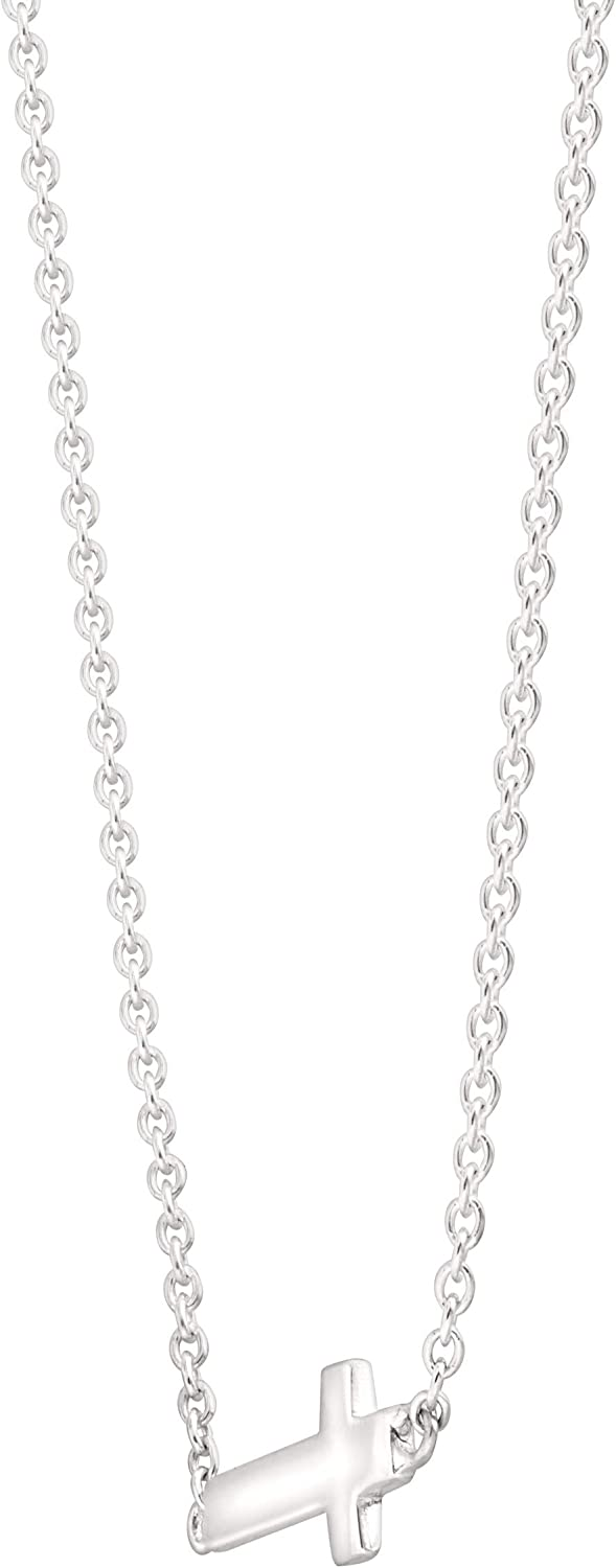 Silpada Simplex Cross Horizontal Cross Pendant Necklace in Sterling Silver