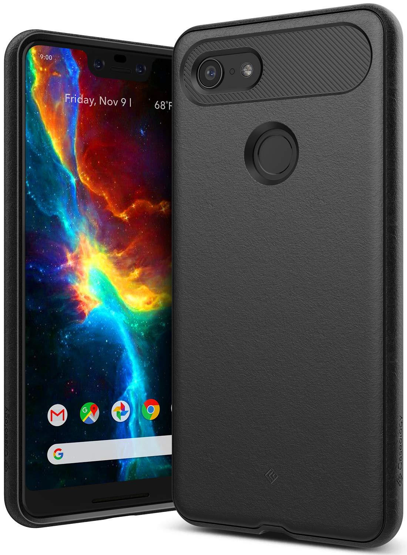 Caseology [Vault Series] Google Pixel 3 XL Case - [Rugged Matte Finish] - Black CO-GP3L-VLT-BK