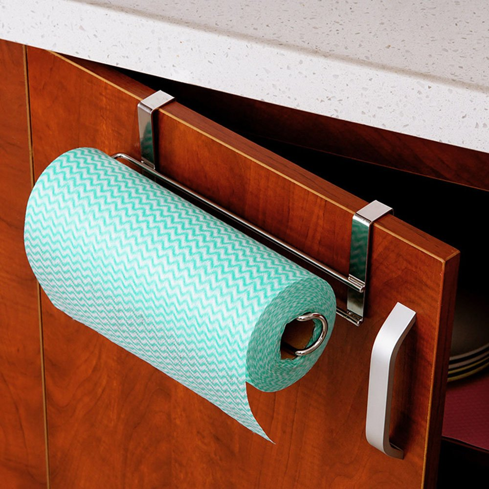 Amazon.com - Stainless Steel Kitchen Paper Hanger - Paper Towel ...
