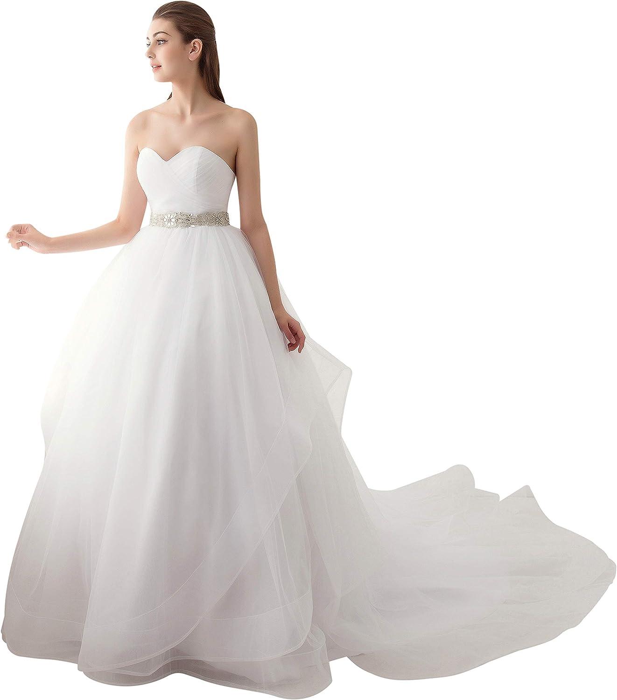 tulle sweatheart wedding gown