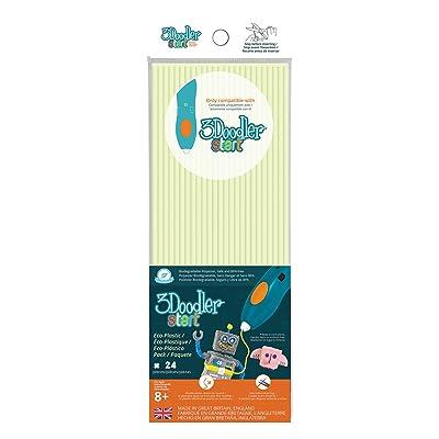 3 Doodler 62122 - Bâton Pour Stylo 3D - 24 Pièces - Eco Brillent dans le Noir