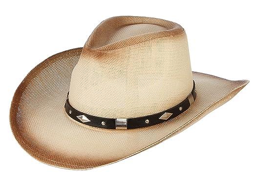 dernière collection différemment magasiner pour le luxe GEMVIE Chapeau Cowboy Western - Chapeau de Paille Homme ...