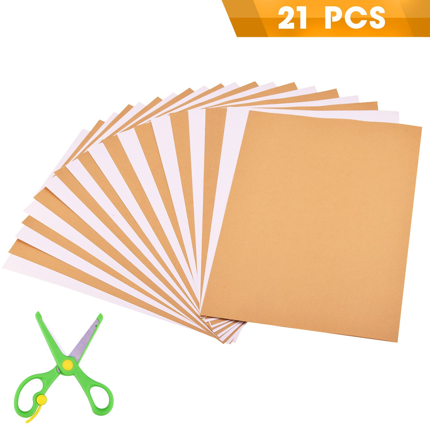 WXJ13 20 Sheet Easy Peel Blank White Adhesive Sheets Sticky Back Label Printing Paper Sheet a Scissor