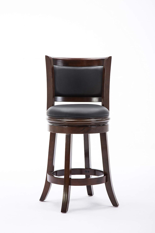 Boraam 48824 Augusta Counter Height Swivel Stool, 24-Inch, Cappuccino