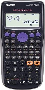CASIO FX-82DE Plus wissenschaftlicher Taschenrechner//Schulrechner mit 252 Funkti