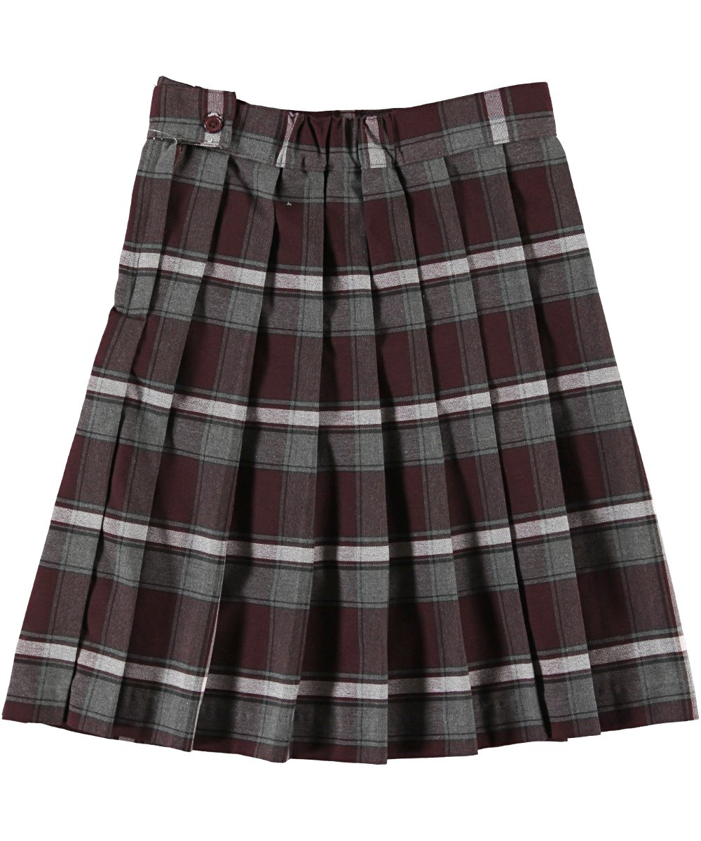 French Toast Big Girls' Plaid Pleated Skirt, Burgundy, 7