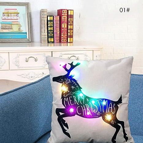 XingYue Direct Cojín de luz LED de Colores Chrsitmas ...