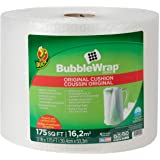 """Duck Brand Bubble Wrap Roll, Original Bubble Cushioning, 12"""" x 175', Perforated Every 12"""" (286891)"""