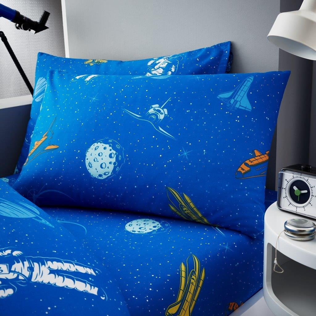 Gaveno Cavailia Astronaut Kids Children Design Luxurious Duvet Cover Sets Reversible Bedding Sets with Pillowcase Single Duvet Set
