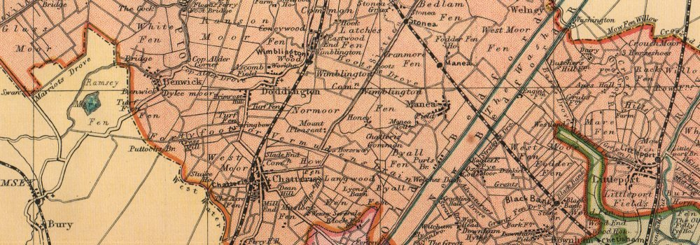 CAMBRIDGESHIRE old antique vintage map BACON 1904 Showing Parliamentary divisions boroughs /& parks printed maps of Cambridgeshire