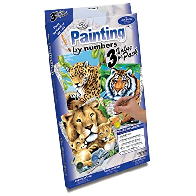 Royal & Langnickel Painting by Numbers Junior Small 3-Piece Art Activity Kit, Jungle Cats Set: Arts, Crafts & Sewing