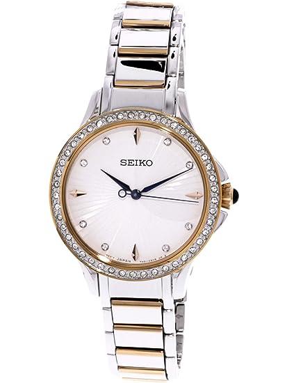 Seiko Reloj Analogico para Mujer de Cuarzo con Correa en Acero Inoxidable SRZ486P1