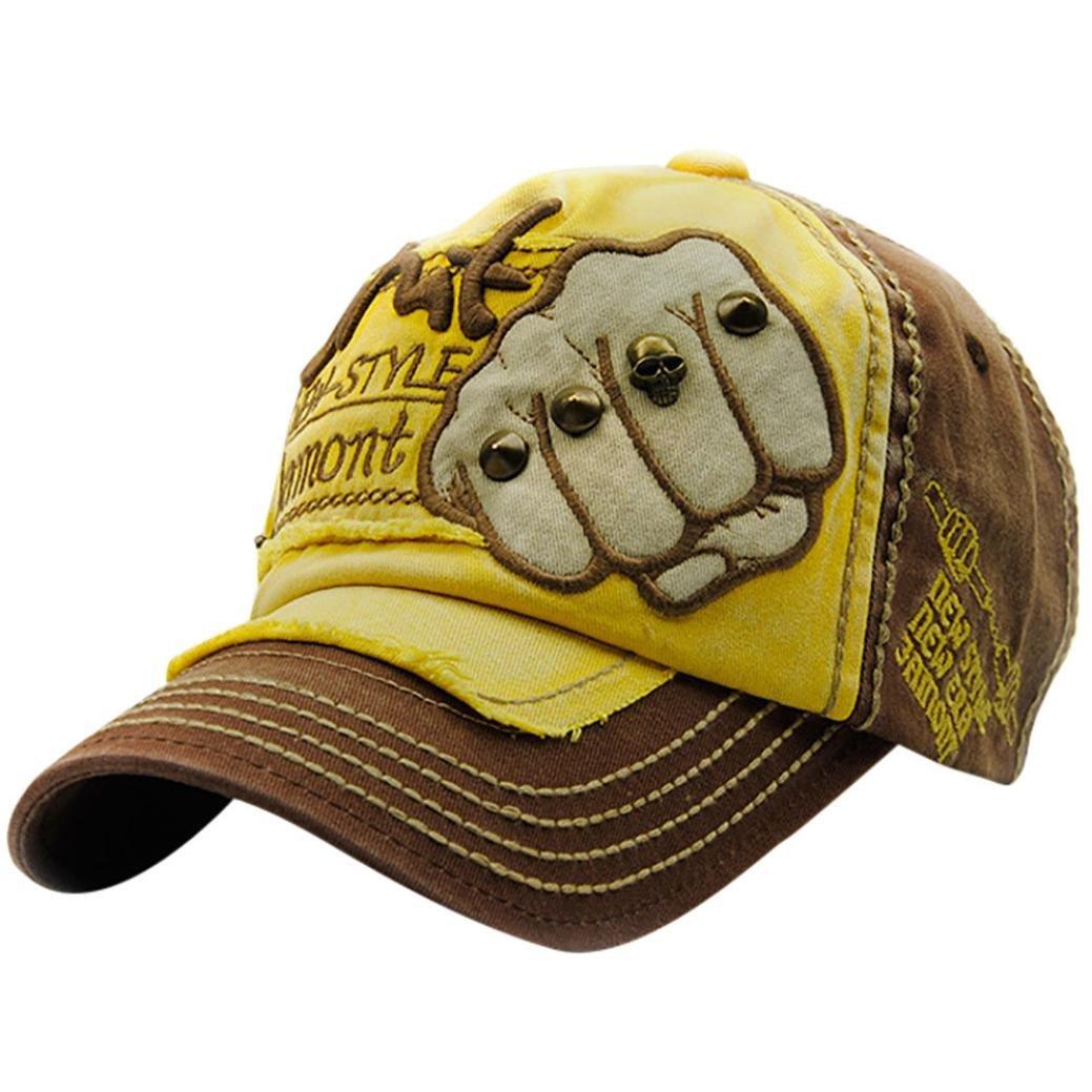 Malloom Bordado remache cr/áneo gorras sombreros para los hombres las mujeres sombrero Casual Hip Hop gorras
