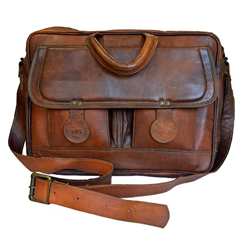 Mad Over Shopping, Bolso retro de la cartera de Crossbody del ordenador portátil de Steampunk del cuero genuino del vintage: Amazon.es: Zapatos y ...