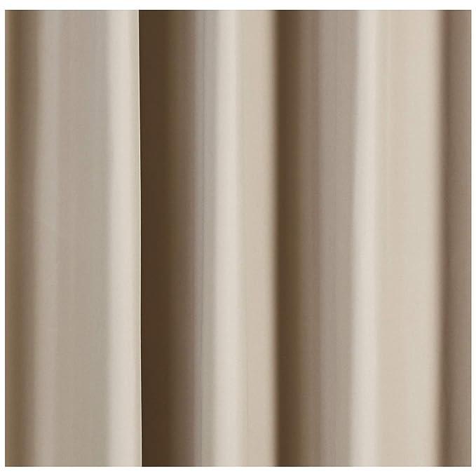 AmazonBasics - Juego de cortinas que no dejan pasar la luz, con ojales, 245 x 140 cm, Chocolate: Amazon.es: Hogar