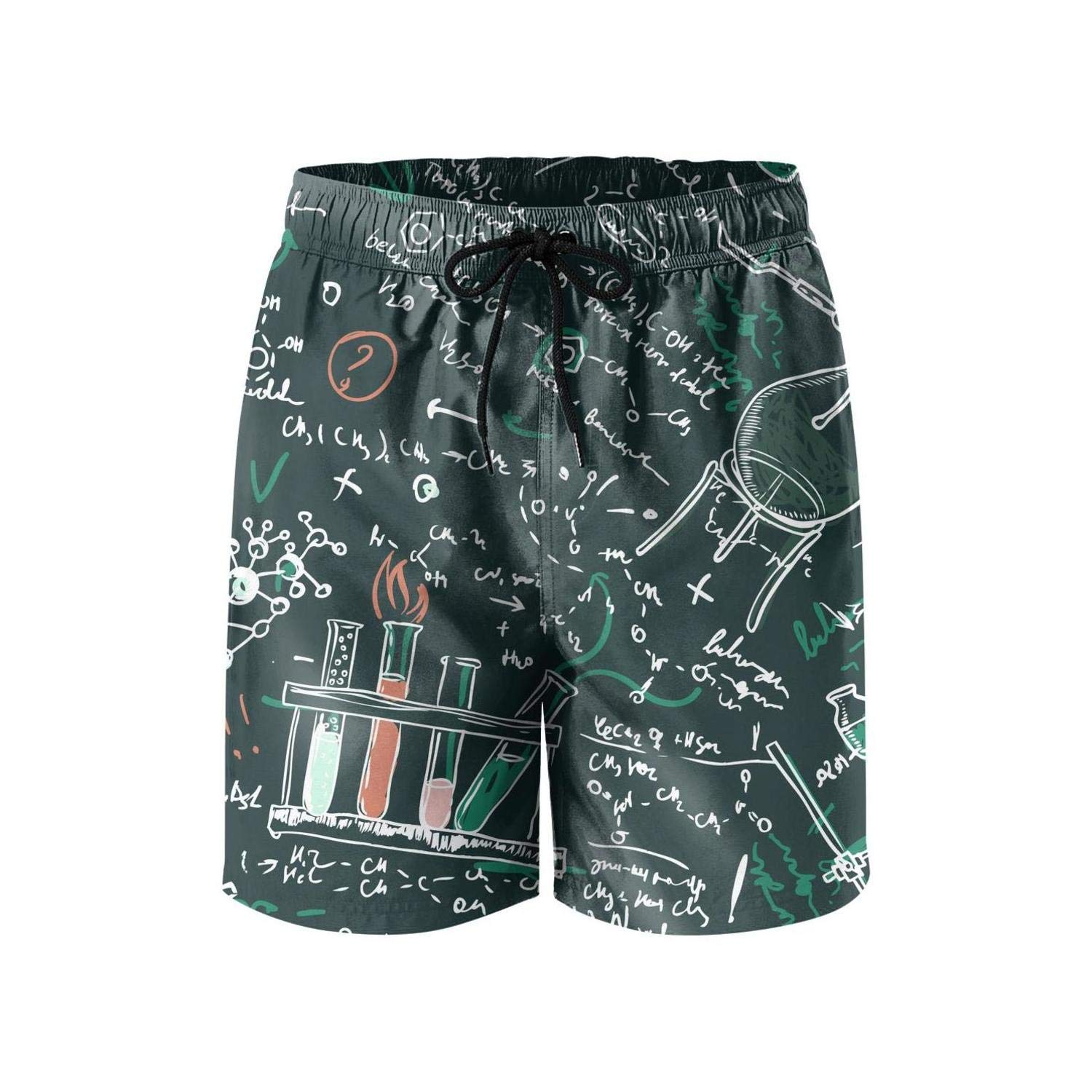 Military Men Board Shorts high Waisted Elastic DSFASDXFX Handwritten-Math-Equations-Scientific