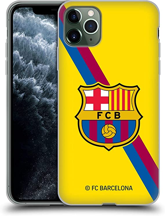 Amazon Com Head Case Designs Officially Licensed Fc Barcelona Away 2019 20 Crest Kit Soft Gel Case Compatible With Apple Iphone 11 Pro Max