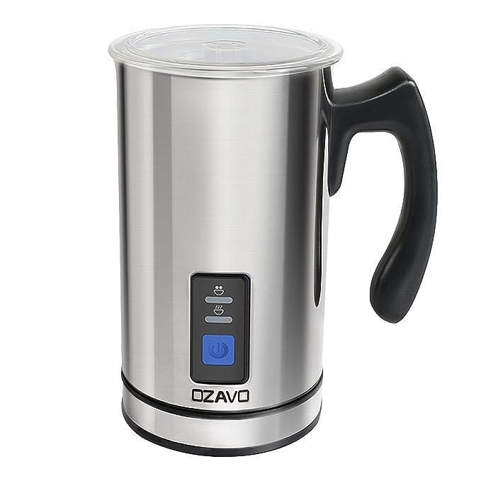 OZAVO Espumador de Leche Automático Batidor de leche Eléctrico 500W Vaporizador y Calentador Leche 150ML/240ML Hace Espuma en Caliente/Frío, ...