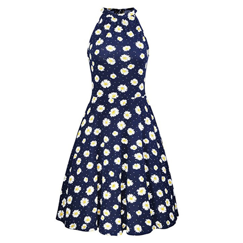 Women Dresses Godathe Womens Summer Beach Floral Print Sleeveless Casual Dress S-XL at Amazon Womens Clothing store: