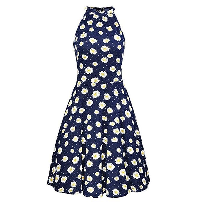 Women Dresses Godathe Womens Summer Beach Floral Print Sleeveless Casual Dress S-XL at Amazon Womens Clothing store: