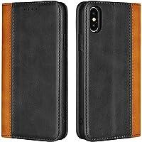Cavor for iPhone X Case,iPhone Xs Case,Premium Leather Folio Flip Wallet Case Cover Magnetic Closure Book Design with…